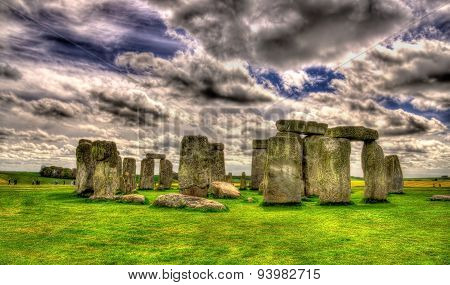 Stonehenge, A Prehistoric Monument In Wiltshire, England
