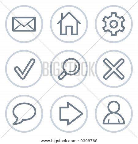 Basic Web Icons, White Circle Series