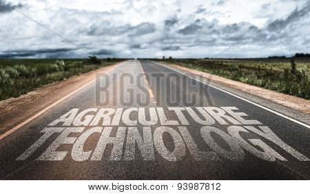 Agriculture Technology written on rural road