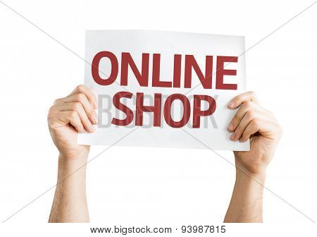 Online Shop card isolated on white