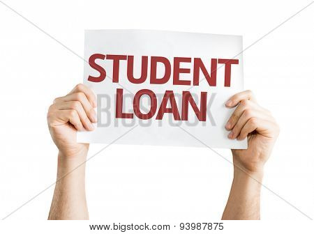 Student Loan card isolated on white