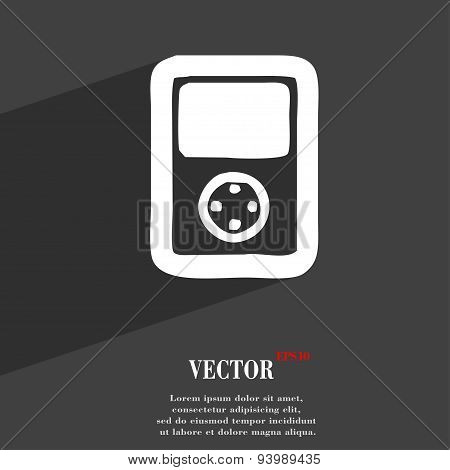 Tetris, Video Game Console Icon Symbol Flat Modern Web Design With Long Shadow And Space For Your Te