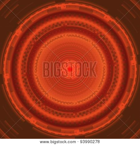 Abstract background with red circles