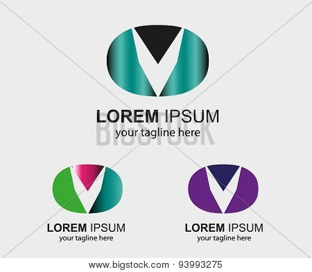 Abstract Business logo letter V company logo