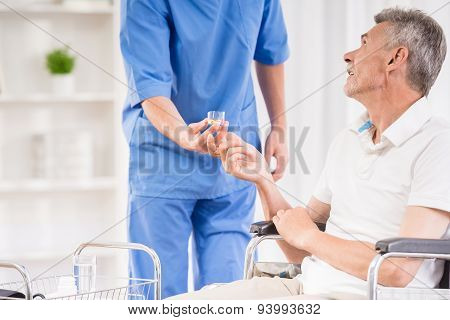 Old Man At Hospital