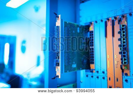 Core Switch Technology In Network Room Place