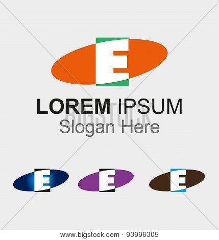 Elip icon with letter E logo design
