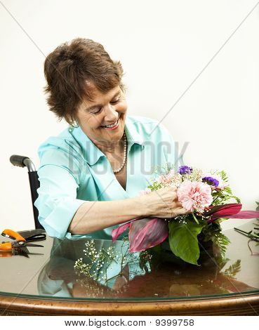 Arranging A Floral Bouquet