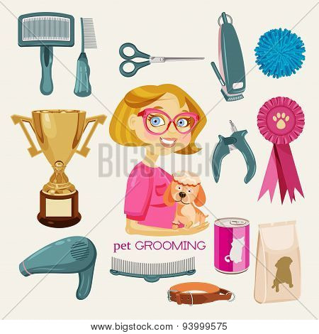 Vector Set: Pet Grooming