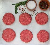 picture of beef-burger  - Cooking of burgers from beef - JPG