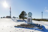 image of crimea  - Meteorological tower and monument on the top of Ai - JPG