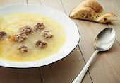 pic of meatball  - Soup with meatballs - JPG