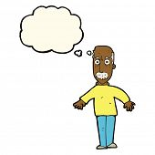 pic of annoyance  - cartoon annoyed old man with thought bubble - JPG