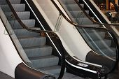 picture of escalator  - The escalator in shopping center in Europe - JPG