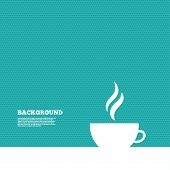 foto of hot coffee  - Background with seamless pattern - JPG