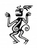 pic of scribes  - Ornament in maya style - JPG
