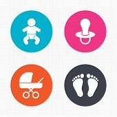 image of baby diapers  - Circle buttons - JPG