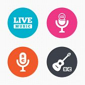 foto of music symbol  - Circle buttons - JPG
