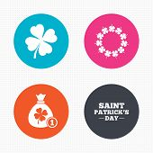 pic of clover  - Circle buttons - JPG