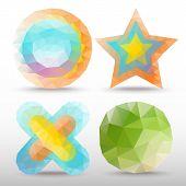 stock photo of octahedron  - Polygon Idea set  - JPG