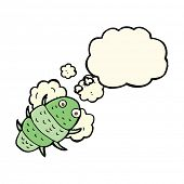 picture of woodlouse  - cartoon bug with thought bubble - JPG