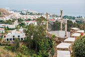 image of observed  - Observation deck of the Colomares castle and view of Benalmadena town - JPG