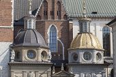 foto of stanislaus church  - Wawel Cathedral on Wawel Hiill in old town of Cracow in Poland - JPG