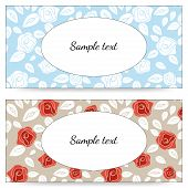 foto of white roses  - Vector cards with roses - JPG