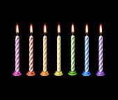 picture of candle flame  - Birthday Candles Flame Fire Light Isolated on Background - JPG