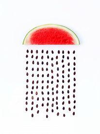 picture of rainy weather  - weather concept watermelon shape of rainy season - JPG