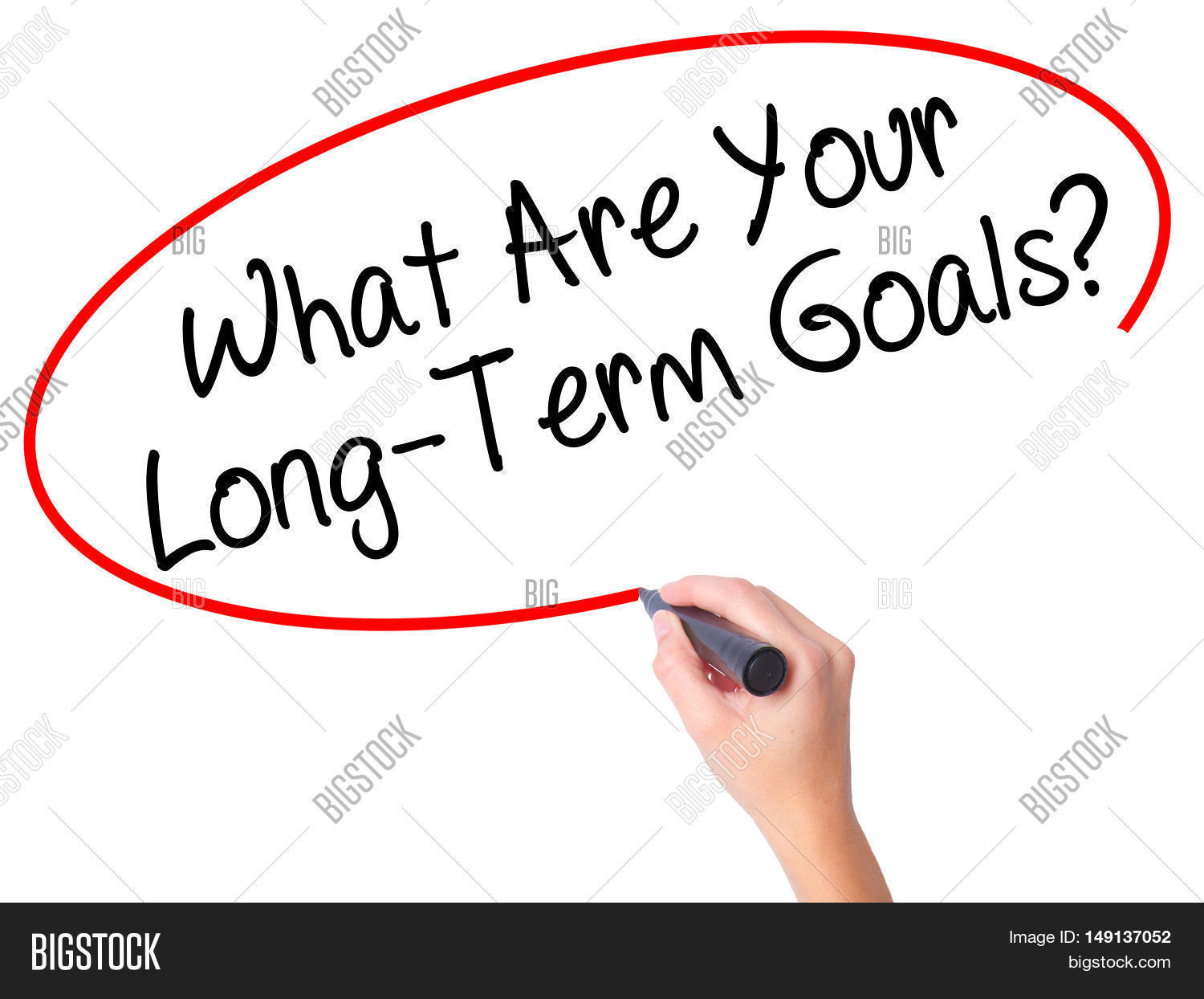 women hand writing what are your long term goals black women hand writing what are your long term goals black marker on visual