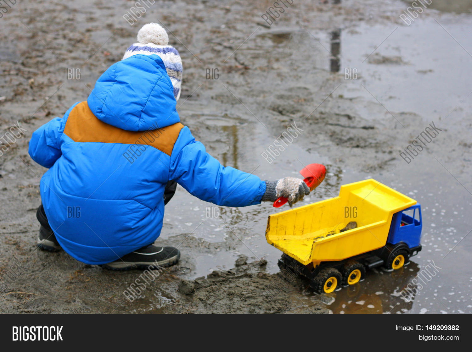 Children's Outdoor Play. Child Blue Image & Photo | Bigstock