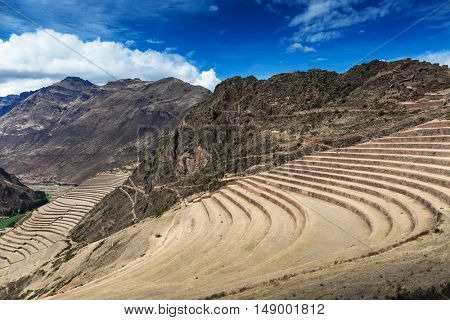 terraces and an old Inca fortress