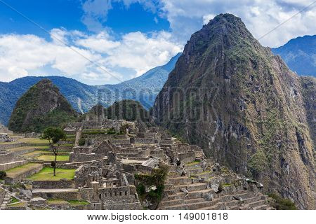 ancient and mysterious Inca city of Machu Picchu