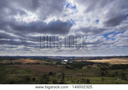 Sky and dark clouds cloudscape nature background