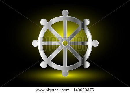 Wheel of Dharma , symbol of Buddhism ,