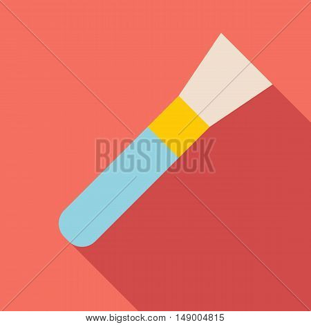 Cosmetic makeup brush icon in flat style isolated with long shadow vector illustration