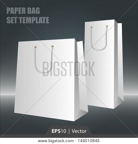 Paper bag blank set template for web or print