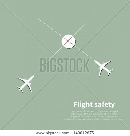 Aviation safety infographic. Vector illustration.