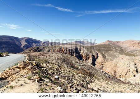 The Road And Mountain To The Swartberg Pass