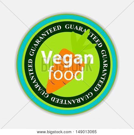Vegan Food Label Set Vector Illustration EPS10