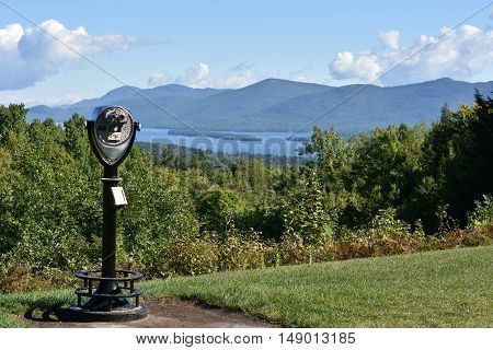 View of Lake George from Prospect Mountain, in New York