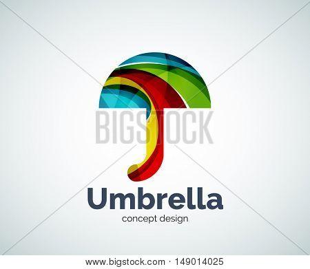 umbrella logo template, abstract business icon