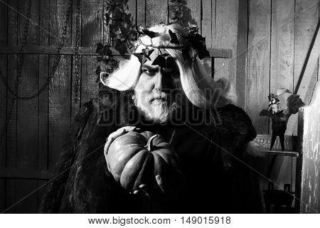 Sorcerer With Pumpkin