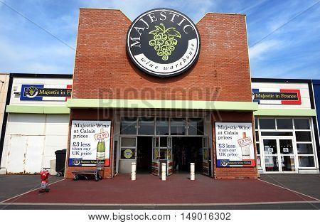 Coquelles, Pas-de-calais, France, May 07 2016: Majestic Wine Warehouse