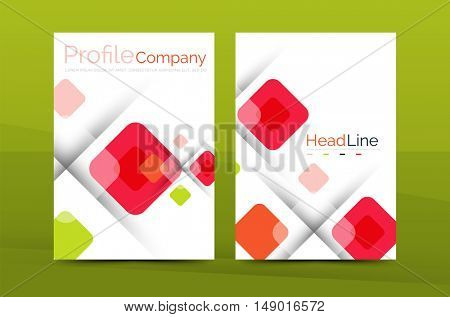 Business a4 annual report business brochure template, vector print layout