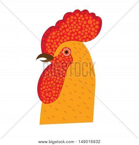 Red fiery Christmas symbols decorative vector illustration