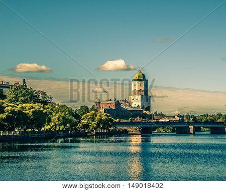 Vyborg Castle Of Saint Olaf. Vyborg. Sunny summer day