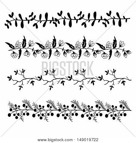High quality original set of floral pattern for decoration, cards or any other design