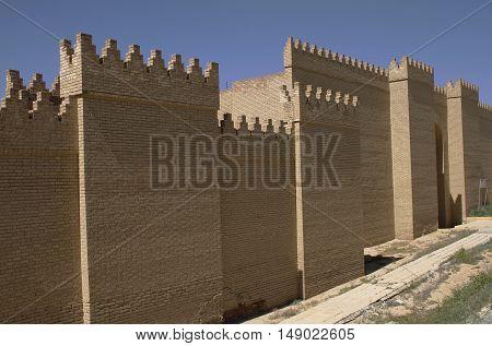 Restored ruins of the ancient Babylon, Iraq.